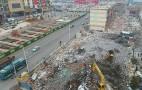 新年第一拆 济南地铁R2线第一茶市拆除施工开始