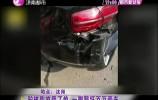 驴被狗咬受了惊 一脚踢坏百万豪车