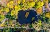 组图| 泉城公园一片斑驳,犹如大大的调色盘