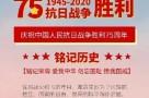 铭记历史,缅怀红色岁月——中国人民抗日战争暨世界反法西斯战争胜利75周年