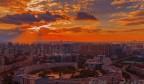 济南被红霞染红了天
