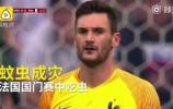 """【视频】本届世界杯""""蚊虫成灾""""!法国门将比赛中""""误食""""蜻蜓被直播"""