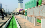 对接CBD,济南解放东?#26041;?#21516;步建设五处BRT站台