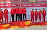 再添金牌!济南四小伙自由泳接力比赛项目夺冠