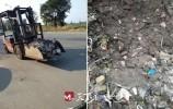 啄木鳥|齒輪廠將生產廢料傾倒在綠化帶邊
