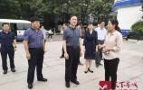 市领导督查新中国成立70周年氛围营造和创城工作