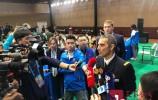 济南广电记者探班第七届世界军人运动会新闻发布会现场