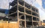 济南长清区拆除一处大型违建厂房 面积达2500平