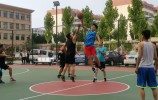 以球会友,山东移动莱芜分公司与莱芜铁通  开展篮球友谊赛