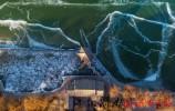 大明湖湖面结冰冰画美景韵味十足