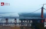 """视频丨春暖万物 风帆正劲 济南凤凰黄河大桥""""生命线"""" 架设中"""