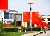 """【庆祝新中国成立70周年】国旗高悬迎国庆,历下街头尽是""""中国红"""""""