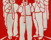 钢城区汶源街道用剪纸讴歌英雄 助战疫情