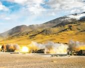 某团组织炮兵分队实弹射击考核