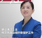 全国人大代表王娟建议通过立法规范铁路沿线环境保护工作
