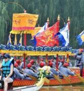 【网络中国节·端午】端午佳节 皇家龙舟再现圆明园福海