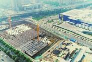 迪卡侬山东旗舰店主体工程完成过半 预计今年年底可竣工验收