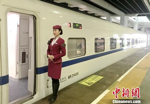 京广动卧车队21组列车长赵欣彤。受访者供图