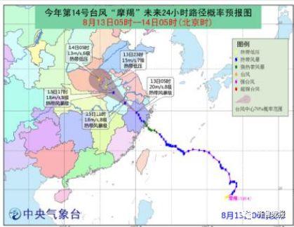 """台风""""摩羯""""的路径有大幅度西调,-台风 摩羯 逼近山东 雷雨 大风在"""