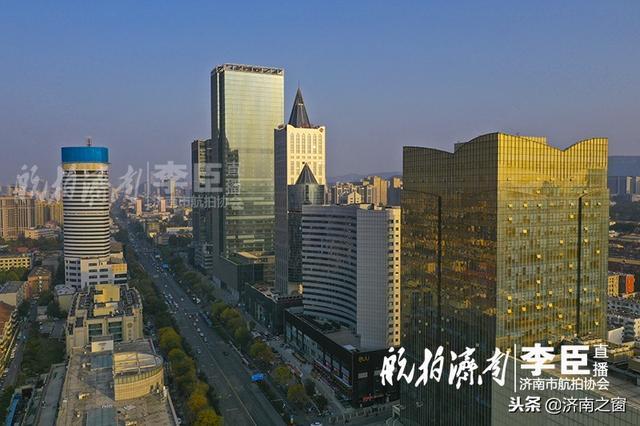航拍乐虎国际手机版曼哈顿商业大街——泺源大街