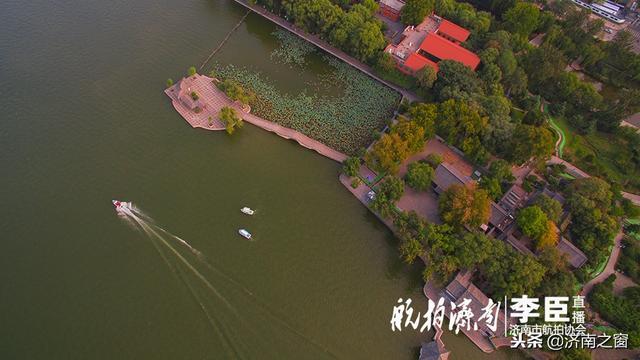 原来上帝也会作画 把明湖秋色画的如此绚丽