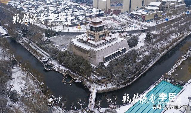 """济南市航拍协会 带您空中领略""""济南的雪"""""""