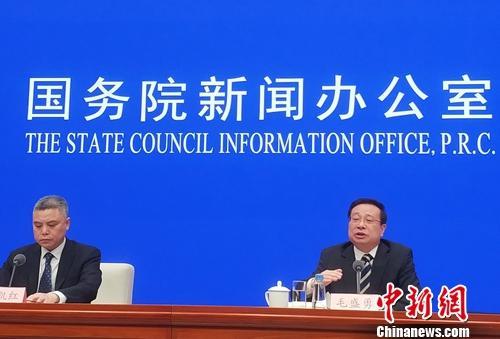 3月14日,国新办就2019年1-2月份国民经济运行情况举行发布会。<a target='_blank' href='http://www.chinanews.com/' >中新网</a>记者 李金磊 摄