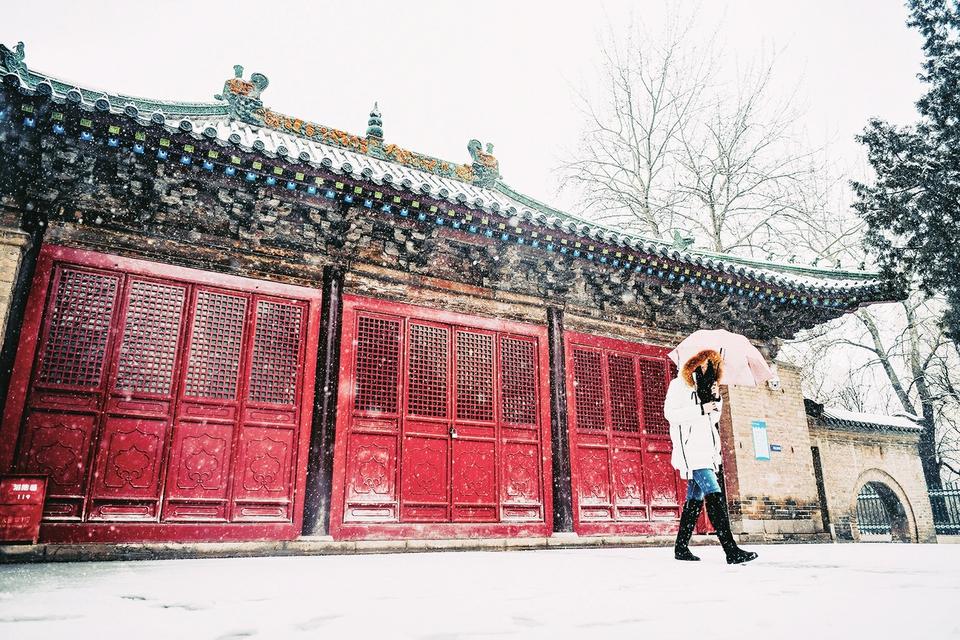 雪中景:雪舞城如画 雾笼泉更欢