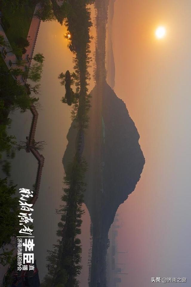 济南一古战场上空 呈现水墨画胜境