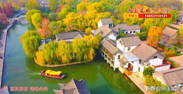 空中瞰济南四季明湖 变换着不是江南 胜似江南的天上泉城