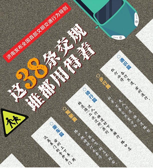 济南市发布全国首部文明交通行为导则 这38条交通规则你必须知道