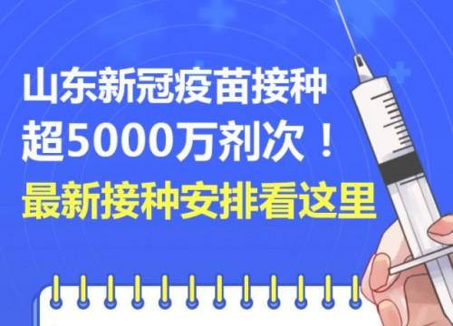 山东新冠疫苗接种超5000万剂次!最新接种安排看这里